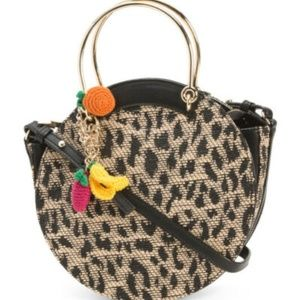 Betsey Johnson BLACK LEOPARD SATCHEL